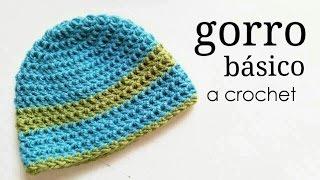 Gorro Básico a Crochet - TODAS LAS TALLAS | How to crochet a basic beanie hat