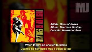 Letra Traducida November Rain de Guns N' Roses