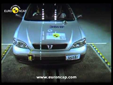 opel astra g crash test - youtube