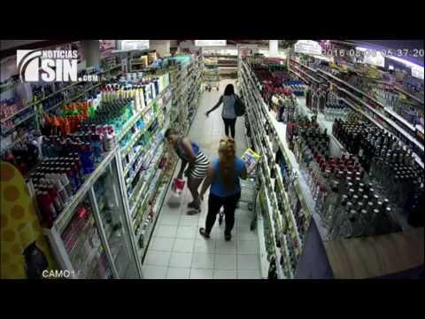 Cámara de seguridad capta a varias mujeres robando en el Súper Mercado el Detallista de San Juan