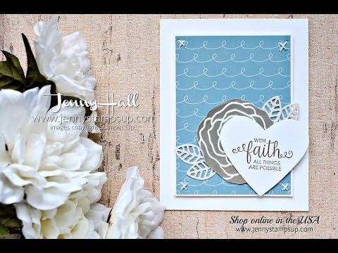 How to create a silver embossed flower using Stampin Up products with Jenny Hall