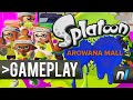 Splatoon Gameplay: Arowana Mall – Full Match at 60fps