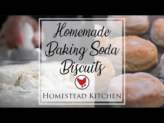 HOMEMADE BAKING SODA BISCUITS | Homestead Kitchen