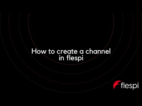 How to create a channel in flespi