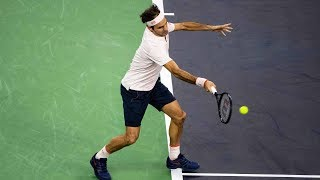 Hot Shot: Federer Flicks Fantastic Forehand In Shanghai 2018