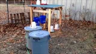 More Winterization - Chicken Water & Goat Hay Feeder