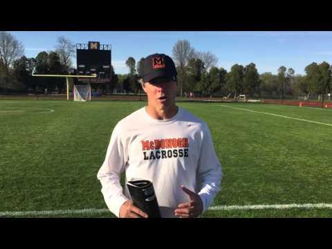 Andy Hilgartner, McDonogh School Varsity Lacrosse Coach 04/19/16