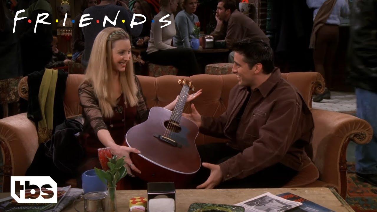 Friends: Phoebe Teaches Joey How To Play Guitar (Season 5 Clip) | TBS