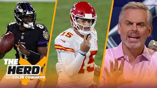 The gap between Mahomes & Lamar is growing — Colin reacts to Chiefs Week 3 win | NFL | THE HERD