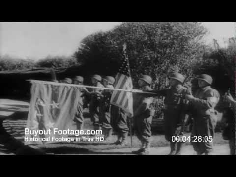 HD Stock Footage WWII Patton and North American Army in North Africa