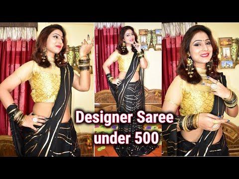 club factory/flipkart/amazon foil print leheriya saree unboxing |satin silk sarees|georgette silk