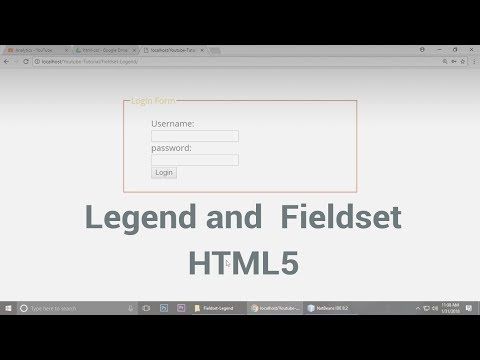Legend and  Fieldset in  html5 & css3