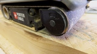 Horizontal Sander And Portable Belt Sanders - A Woodworkweb.com Video