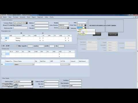 How to use sales & purchase module of Optical POS Software