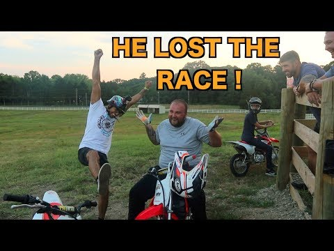 NICK LOST THE PIT BIKE RACE ! I GOT A NEW CAMERA MAN !