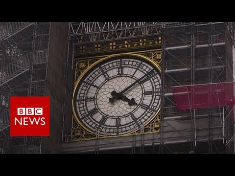 Big Ben scaffolding takes tourists by surprise - BBC News