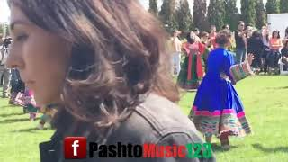 Afghan cultural attan performed by girls