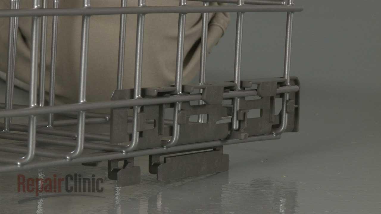 kitchenaid dishwasher lower rack right support