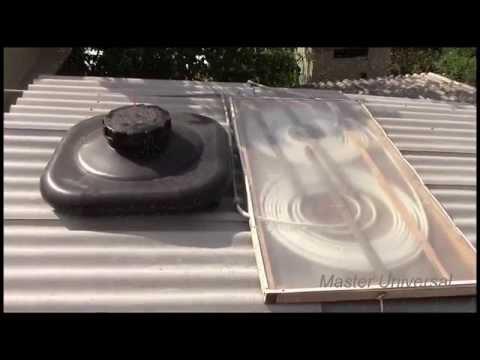 Горячая вода на даче и в частном доме.Видеоинструкция по изготовлению солнечного водонагревателя.