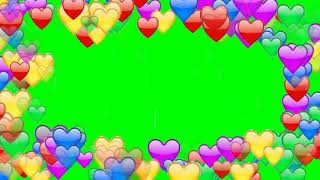 Blinking Hearts Green Screen Animation Background Effects