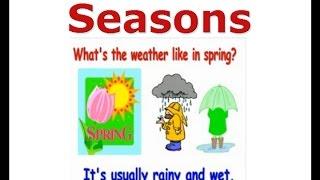 Seasons ESL Vocabulary ESL Kids Lessons Winter Summer AutumnFall Weather