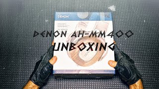 denon AH-MM400  Binaural Unboxing