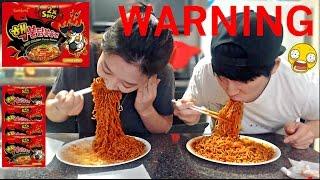 Nuclear Fire Noodle Challenge  Race  Mukbang