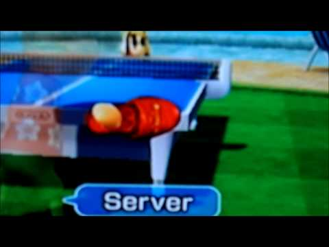 Wii Sports Resort Table Tennis Slipper instead of Paddle