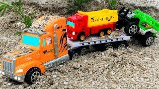 Camión Transportador, Carros y Autos para Niños - Compilación de Coches de Juguetes Infantiles