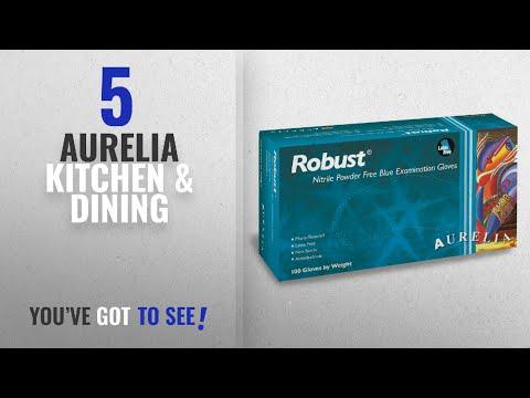 Aurelia Top 10 Kitchen & Dining [2018]: Aurelia Robust Nitrile Glove, Powder Free, 9.4
