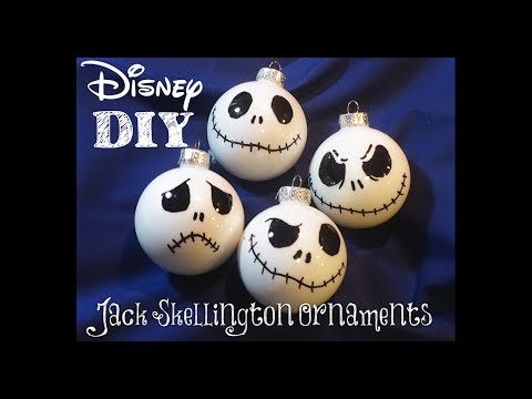 diy jack skellington christmas ornaments super easy to make nightmare before christmas disney - Night Before Christmas Decorations