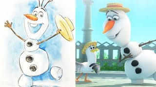 How To Draw Olaf from Disney's Frozen | Quick Draw | Disney LIVE