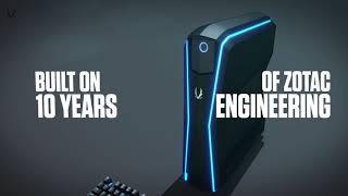 ZOTAC GAMING MEK1 GAMING PC GeForce GTX 1070 Ti Intel Core i7 16GB DDR4 RAM 240GB NVMe S