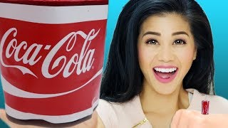DIY GIANT Gummy Coke Can & MINIATURE Coca Cola Soda! GONE WRONG!!