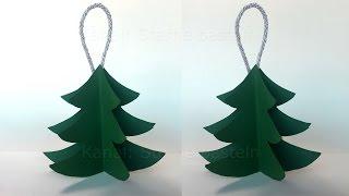 Weihnachten basteln. DIY Weihnachtsbaum falten. Weihnachtsdeko. Weihnachtsschmuck. Christbaumschmuck