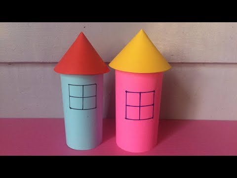 How to Make House with Color Paper | DIY Paper Houses Making