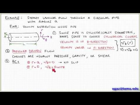 Applying the Navier-Stokes Equations, part 1 - Lecture 4.6 - Chemical Engineering Fluid Mechanics