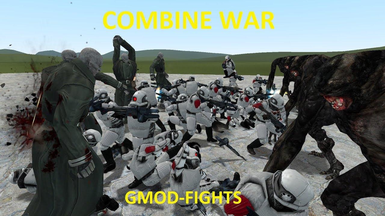 EPIC COMBINE NPC WAR VS LIBRARIANS + TYRANT NPC'S - GMOD FIGHTS