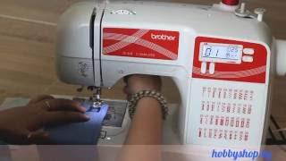 Швейная машина Brother JS 40 - Обзор ХоббиШоп(Посмотрите на JS 40 в действии: как она делает разные виды строчек и работает с разными типами ткани. Узнать..., 2016-06-17T12:15:23.000Z)