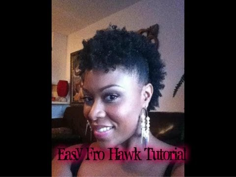 Cute And Easy Fro Hawk On Short Natural Hair Youtube