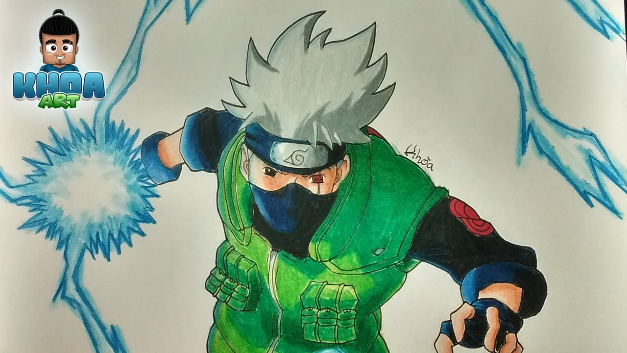 Dibujos De Kakashi Para Colorear: DIBUJO DE KAKASHI CON CHIDORI