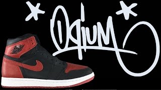 BANNED FROM OQIUM AMSTERDAM nike air jordan 1 bred campout