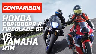 Yamaha vs Honda! Honda CBR1000RR-R Fireblade Vs Yamaha R1M | Which Sounds Best? | Visordown.com