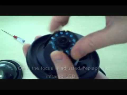 How to - Zmodo P103BK Dome Security Camera Lens Focus Adjustment