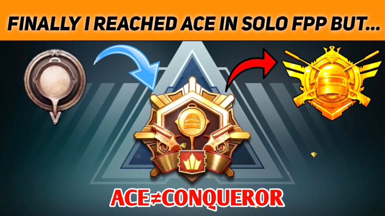 FINALLY I REACHED ACE IN SOLO FPP BUT , ACE IS NOT EQUAL TO CONQUEROR WHY ??? BGMI | anonYmous FPP