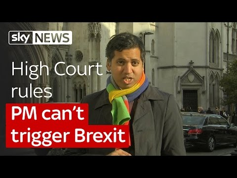 Campaigners win a landmark High Court victory over Brexit