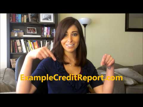 Credit Is Important - Example Credit Reports Can Help