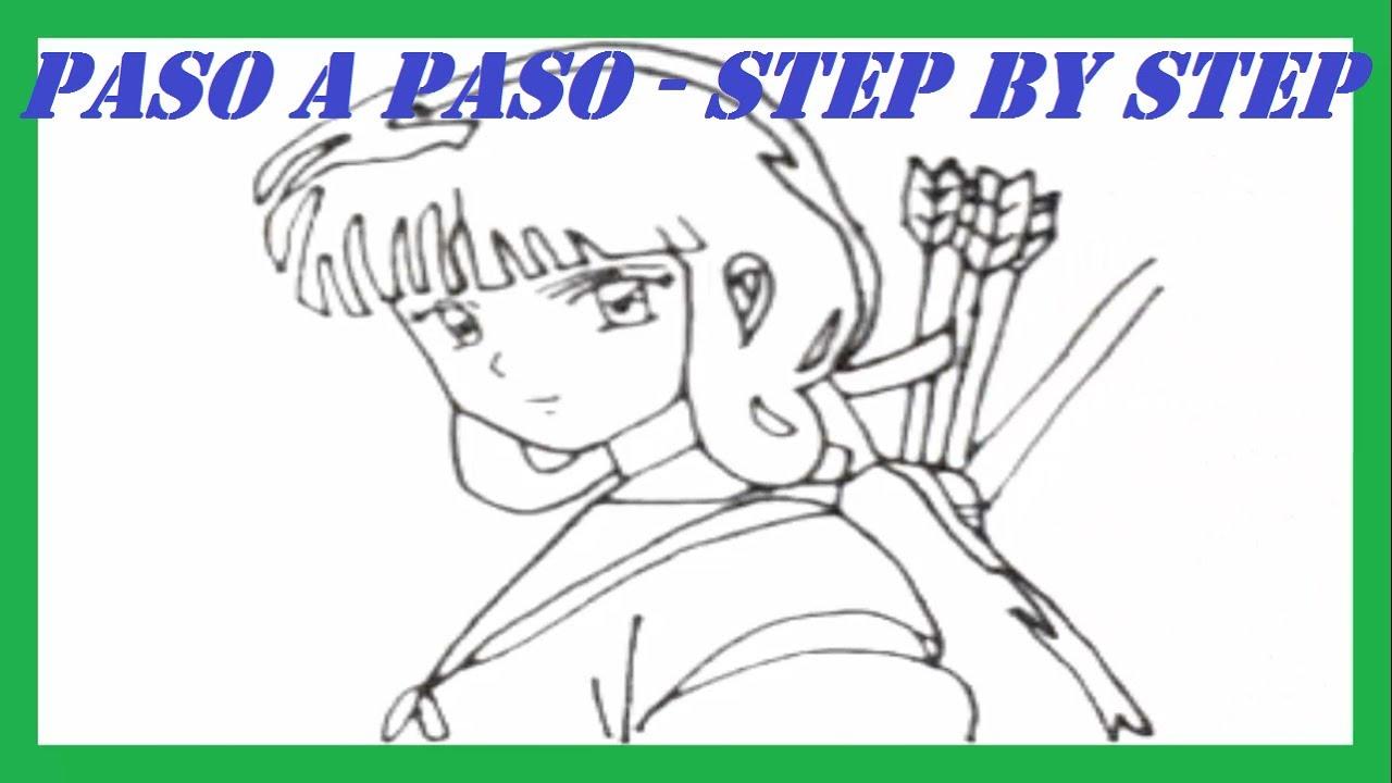 Como dibujar a Kikyo de InuYasha paso a paso l How to draw Kikyo ...