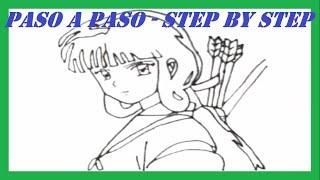 Como dibujar a Kikyo de InuYasha paso a paso l How to draw Kikyo from InuYasha step by step