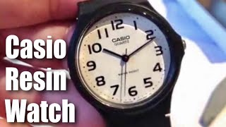 Casio Men's MQ24-7B2 Analog Black Resin Strap Watch unboxing and review